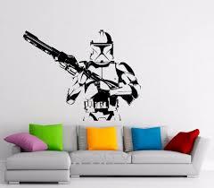 storm trooper wall decal star wars vinyl stickers home interior art decor design nursery living room