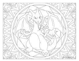 006 Charizard Pokemon Coloring Page Windingpathsartcom