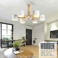 modern simple living room wooden art chandelier