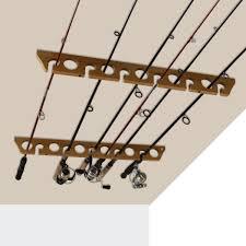 rush creek creations 3 in 1 11 fishing rod wall ceiling storage rack com