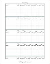 Workout Log Sheets Interesting Workout Log Template Buildingcontractorco