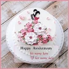Romantic Anniversary Cake With Name Edit Gpandey Cake Name