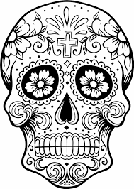 Small Picture Day Of The Dead Coloring Pages GetColoringPagescom