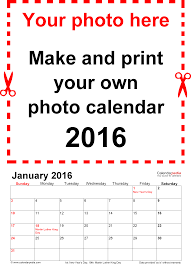 photo calendar 2016 printable word templates template 1 photo calendar 2016 for word 12 pages portrait format standard