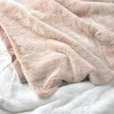 Light Pink Fur Throw Blanket Blush Pink Dusty Rose Gold Faux Fur Throw Blanket A Cozy