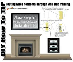 mounting tv above fireplace hiding wires hanging wall mount without stud mounting on