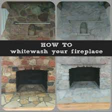 Stone Fireplace Remodel White Wash Rock Fireplace 50 White Primer 50water Brush On And