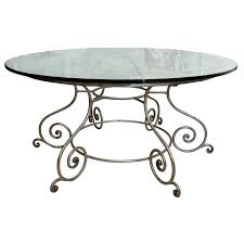 wrought iron table legs bases wrought iron dining table furniture interior mesmerizing round glass top dining