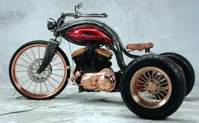 steampunk custom motorcycle copper plated steampunk trike with a