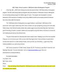 Sample Press Release For Book This Is A Sample Press Release Written For The Waukesha County