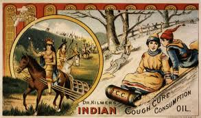 if you knew the conditions health care to native americans  dr kilmer s n cough cure consumption oil 19th century patent medicine card purporting