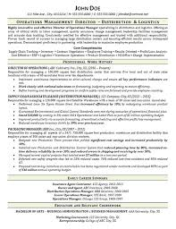 Executive Resume Example Extraordinary Warehouse Manager Resume Example Distribution Logistics