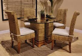 dining table and wicker chairs rattan wicker dining room chairs design ideas in various