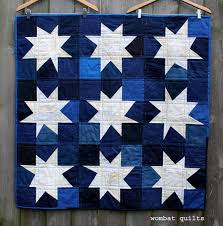Everybody loves a wonky star…right…. | WOMBAT QUILTS & white star quilt Adamdwight.com