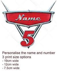Cars Movie Badge Logo Cake Topper Personalised Edible Icing Print Ebay