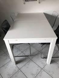 Ikea Bjursta Esstisch Weiss Ausziehbar In 59065 Hamm Für 7000