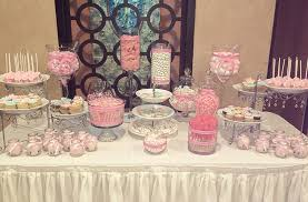 Pastel And Pearls Themed Bridal Shower Dessert Station Chubby