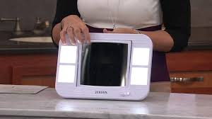 jerdon 5x 1x led lighted vanity and travel mirror with jennifer