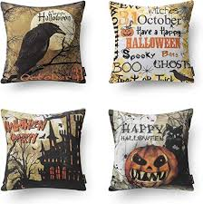 Phantoscope Halloween Throw Pillow Covers Horror ... - Amazon.com