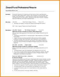 6 Sample Of Resume Summary Azzurra Castle Grenada