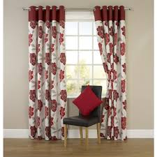 Red Curtains Living Room Molly Floral Eyelet Curtains Red 117cm X 137cm Home Pinterest