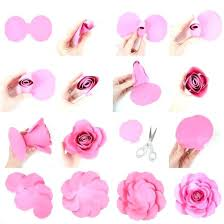 Free Paper Flower Templates Printable Free Paper Rose Template Mini Paper Flower Template Free Small Petal