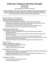 Resume Format Software Engineer Software Developer Experienced
