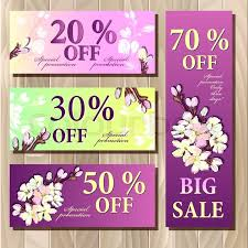Invitation Ticket Template Magnificent Big Sale Gift Certificate Coupon Templater Spring Sacura Blossom