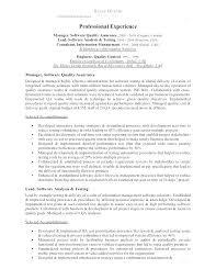 Quality Control Job Description Template Assurance Manager System