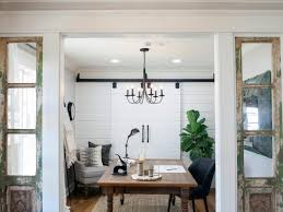 Magnolia house furniture Interior Rustic Open Home Office With French Doors The Mangers Office At Magnolia House Fixer Upper The Case Of The Collapsing Carriage House Hgtvs