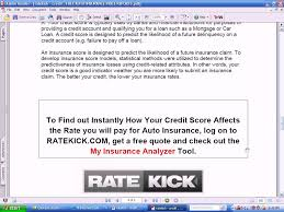 how does my credit score affect my car insurance rates