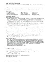 skill based resume sample skill for resume mollysherman