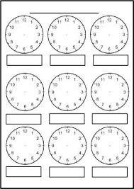 Free Printable Blank Clock Faces Worksheets Clock
