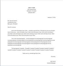Proper Letter Format Personal Standard Letter Format Template Sample Personal Apology Letter