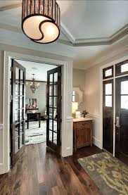 this makes me want to stain the french doors our office love dark with white trim