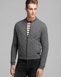 impressive mens grey quilted jacket and awesome ideas of burberry brit marvel cotton er in gray