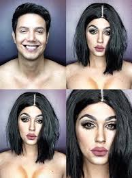 image via pochoy 29 on insram celebrity makeup transformation