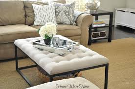 Decorating An Ottoman With Tray Furniture What To Put On A Coffee Table Decor Pinterest Glass 30