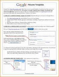 Google Resume Template Doc Templategoogle Docs How To Make Format