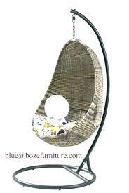 weller outdoor wicker basket swing chair with stand patio rattan furniture hammock 1 brown swinging lounge