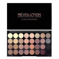 amazon makeup revolution 32 color eyeshadow palette flawless matte beauty