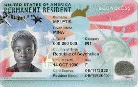 what is the green card number and where
