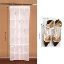 begrit over the door shoe rack organizer hanging shoe bag shoe shelves storage bag hanging narrow closet door 24 pockets with 4 hooks transpa begrit