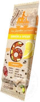 Отзывы о <b>Батончике фруктово</b>-<b>ореховом</b> Bionova Лимон и орехи ...