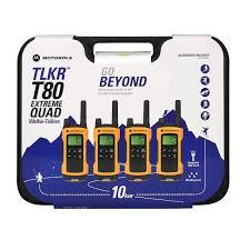 motorola tlkr t80. motorola tlkr t80 extreme walkie talkie quad pack. rollover to zoom tlkr