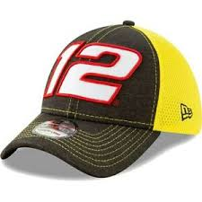 New Era Flex Hat Size Chart Details About New Era Ryan Blaney Black Yellow Tonal Shade Number 39thirty Flex Hat