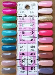 Dnd Gel Color Chart Daisy Dnd Gel Nail Polish