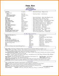 Acting Resume Special Skills Examples Eliolera Com