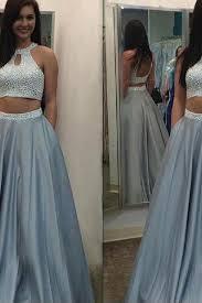 new arrival women dress 2 pieces prom dresses 2 piece prom dress modest