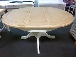 new light grey oak round extending pedestal dining table furniture